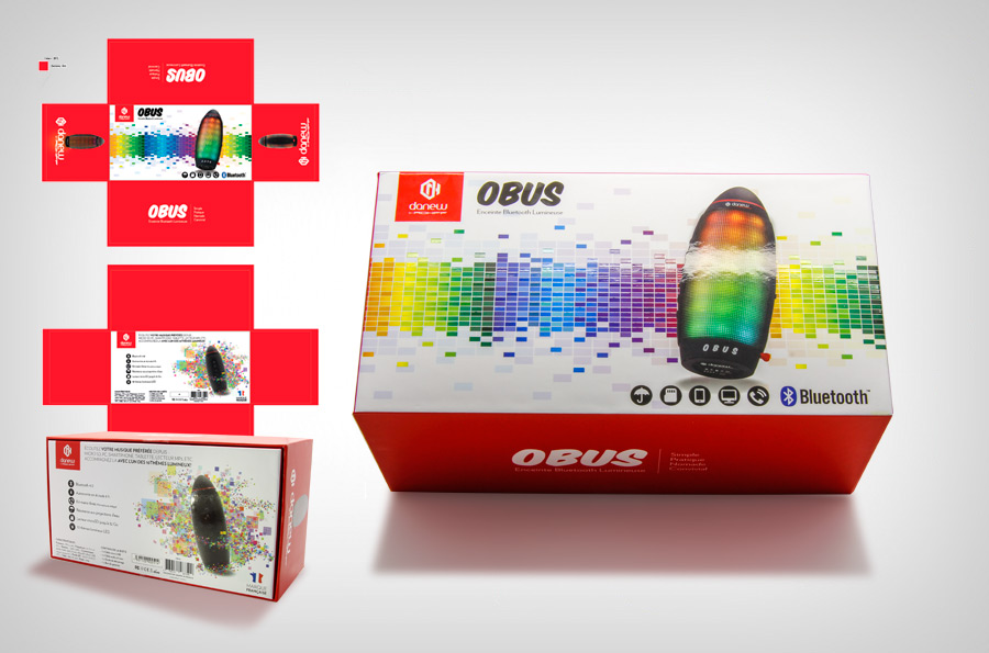 Packaging Enceinte Bluetooth OBUS