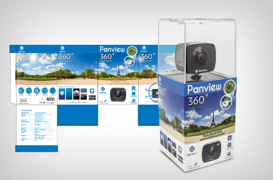 Packaging Camera FullHD 360° Panview