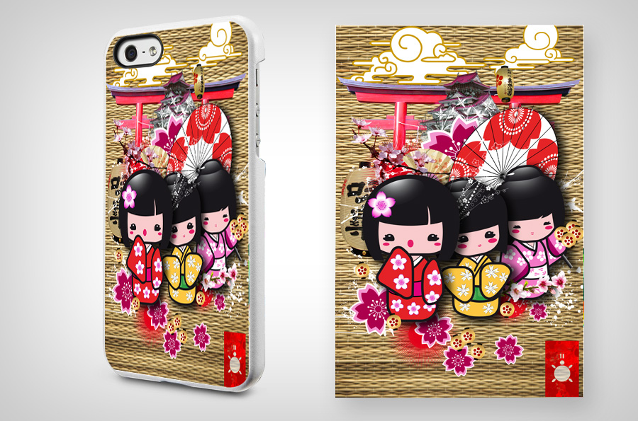 Phone Case Japanese Dolls