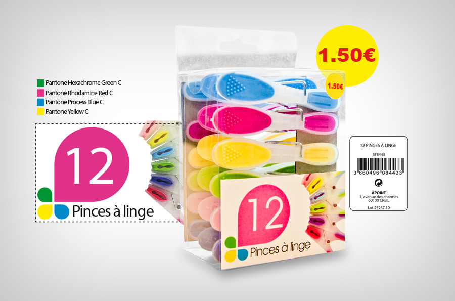 Packaging Pinces à linge